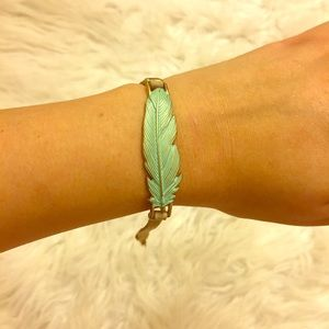 Lucky brand feather bracelet